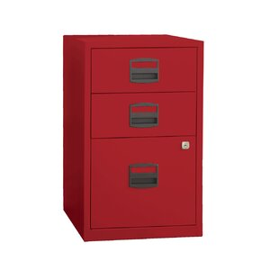 Castaneda 3 Drawer Steel Home or Office Filing Cabinet