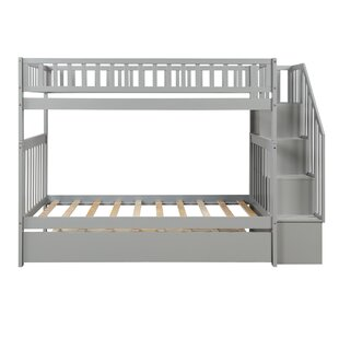 Enye Twin over Twin Bunk Bed with Trundle and Shelves by Harriet Bee