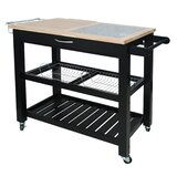 Emilie Kitchen Cart with Granite Top by Winston Porter