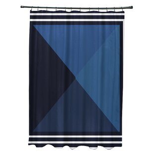 Bartow Nautical Angles Single Shower Curtain