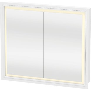 LCube Recessed Framed 2 Door Medicine Cabinet with LED Lighting by Duravit