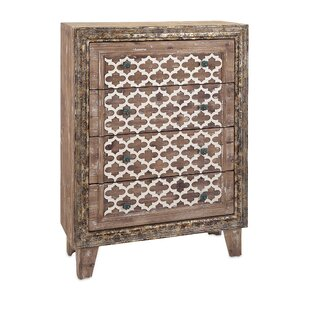 Ashdown Wood 4 Drawer Accent Chest by Bungalow Rose