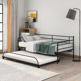 Tullahoma Twin Metal Daybed with Trundle by Latitude Run®