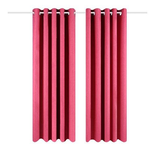 Eclipse Eyelet Blackout Thermal Curtains Wayfair Basics Colour: Pink, Panel Size: 229 W x 137 D cm
