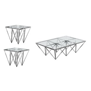 Read Reviews Kroll 3 Piece Coffee Table Set By Everly Quinn