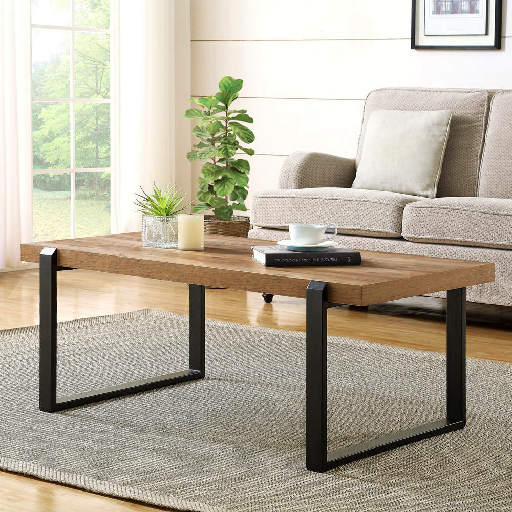 Industriel Table Basse Palette clarkson industrial cocktail rustic coffee table
