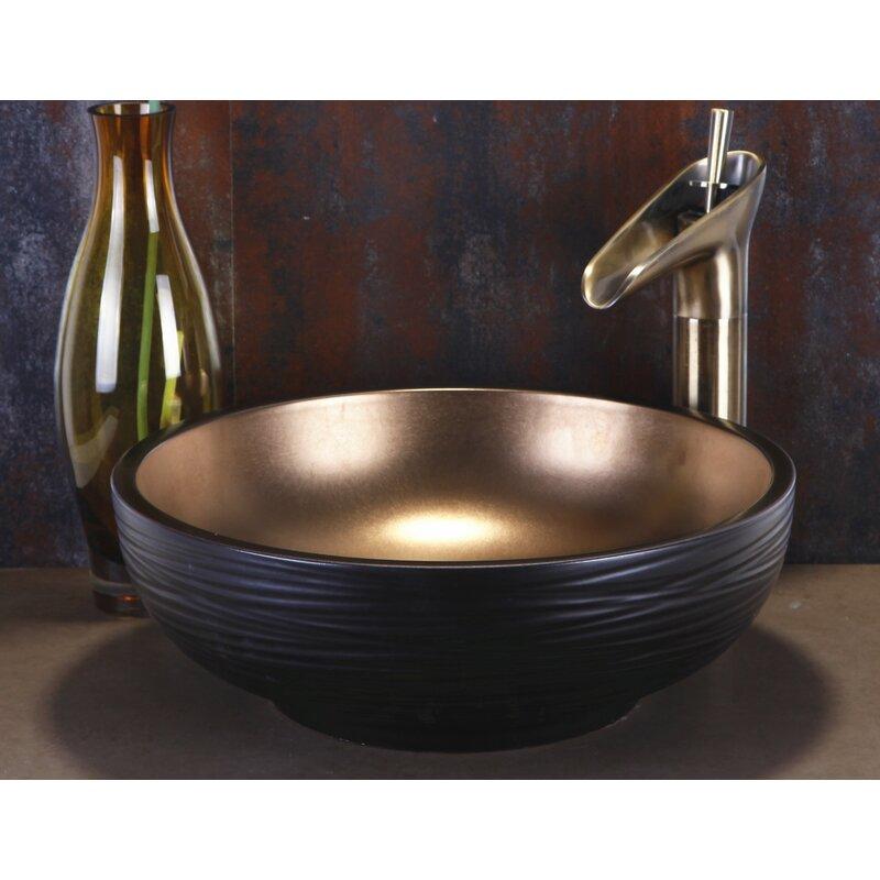 Dawn Usa Ceramic Circular Vessel Bathroom Sink Reviews Wayfair