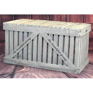 Rustic Outdoor 42.5 Gallon Paulownia Deck Box by Gardenised