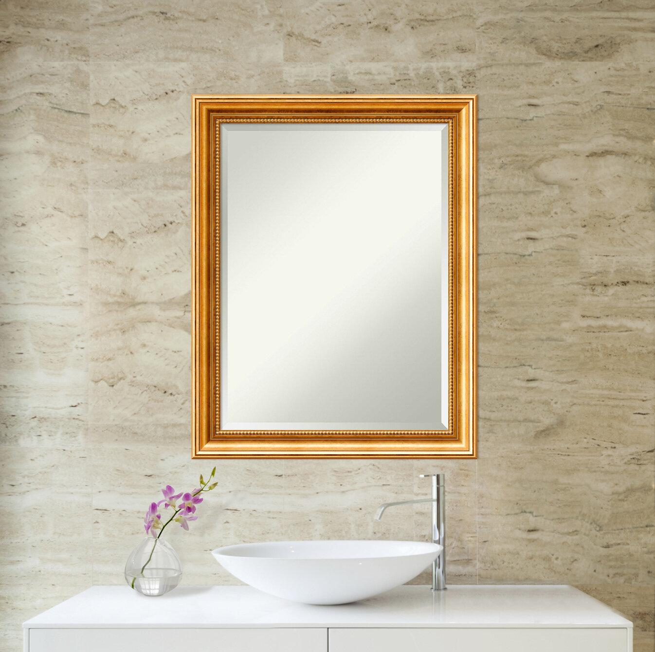 Traditional Beveled Bathroom Vanity Mirror