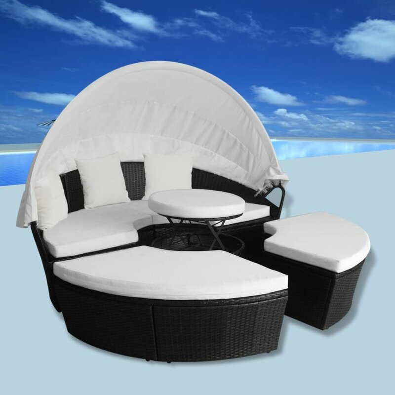 Ebern Designs Laarni Patio Daybed with Cushions