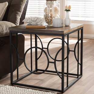 Great choice Haffey End Table by Wrought Studio