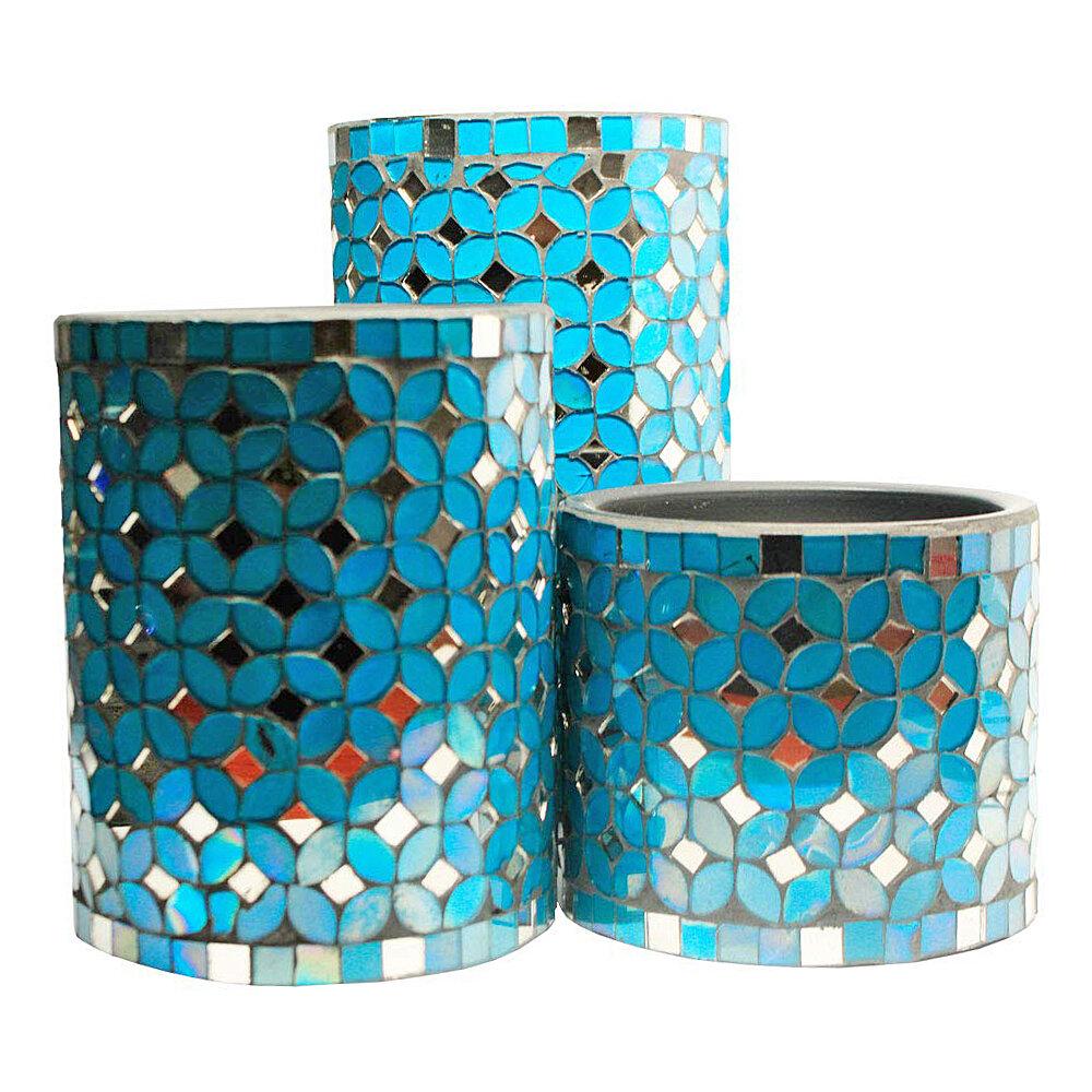 Amberhomegoods 3 Piece Glass Votive Holder Set Wayfair
