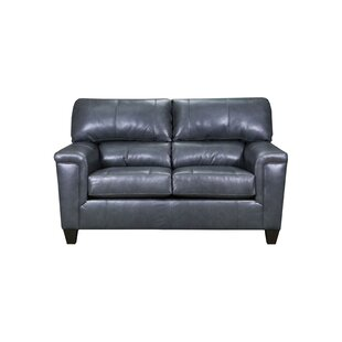 Coury Leather Loveseat by Winston Porter