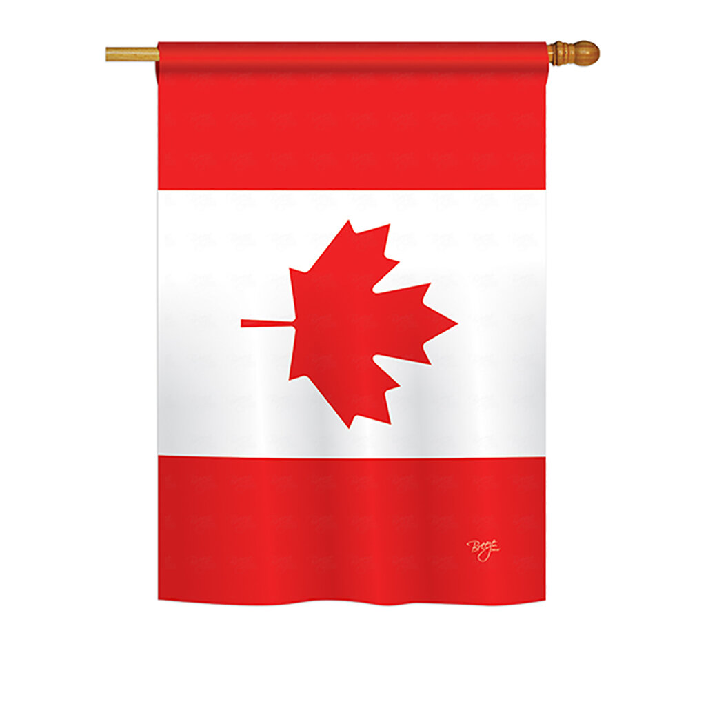 Breeze Decor Canada Country 2 Sided Polyester House Flag Wayfair