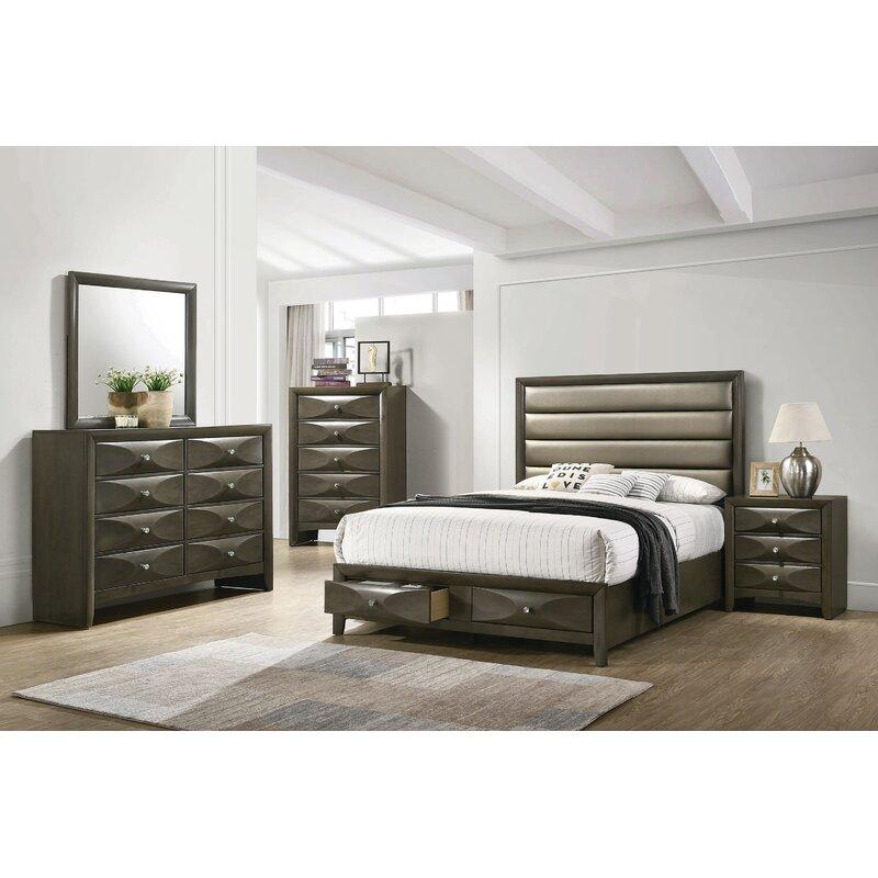 Brayden Studio Middleton King Platform Solid Wood 5 Piece Bedroom