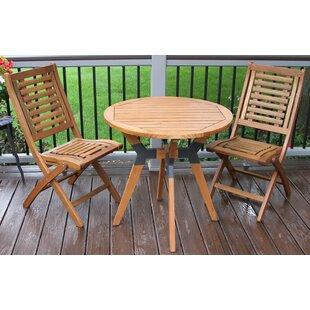 Beachcrest Home Roseland 3 Piece Dining Set