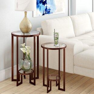 Everly Quinn Sherilyn 2 Piece Nesting Tables