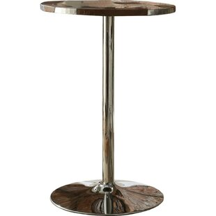 Stgermain Faux Leather Upholstered Pub Table