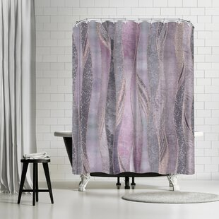 East Urban Home Lebens Art Purple Shiny Elegance Shower Curtain
