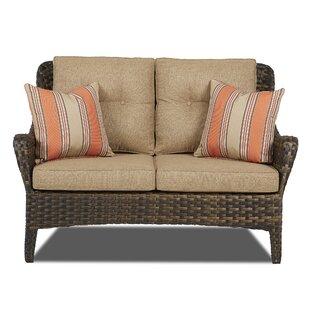 Fleur De Lis Living Rouse Patio Loveseat with Cushions