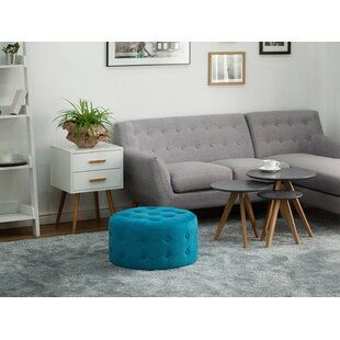 House of Hampton Mcmurray Round Tufted Cocktail Ottoman