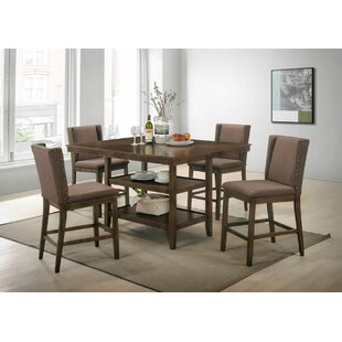 Wallach 5 Piece Pub Table Set by Gracie Oaks