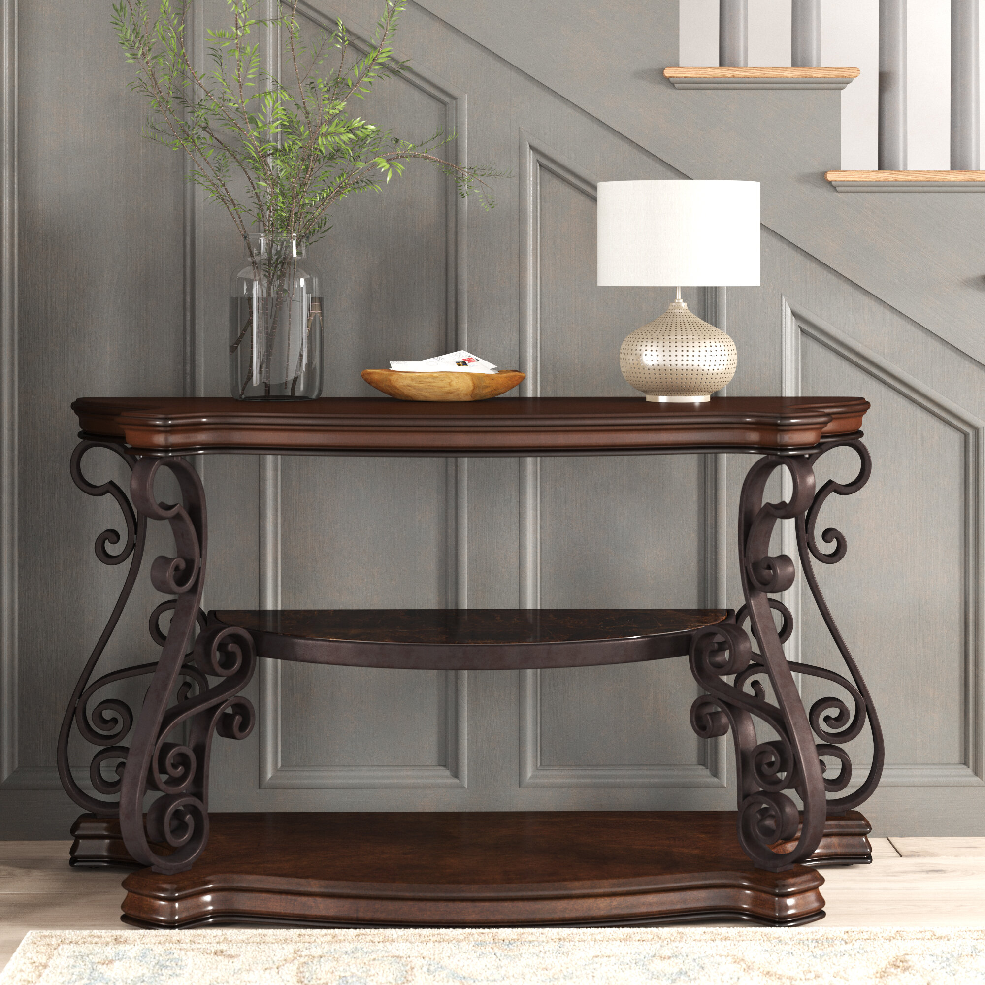 Sandoval Traditional Solid Console Table Birch Lane