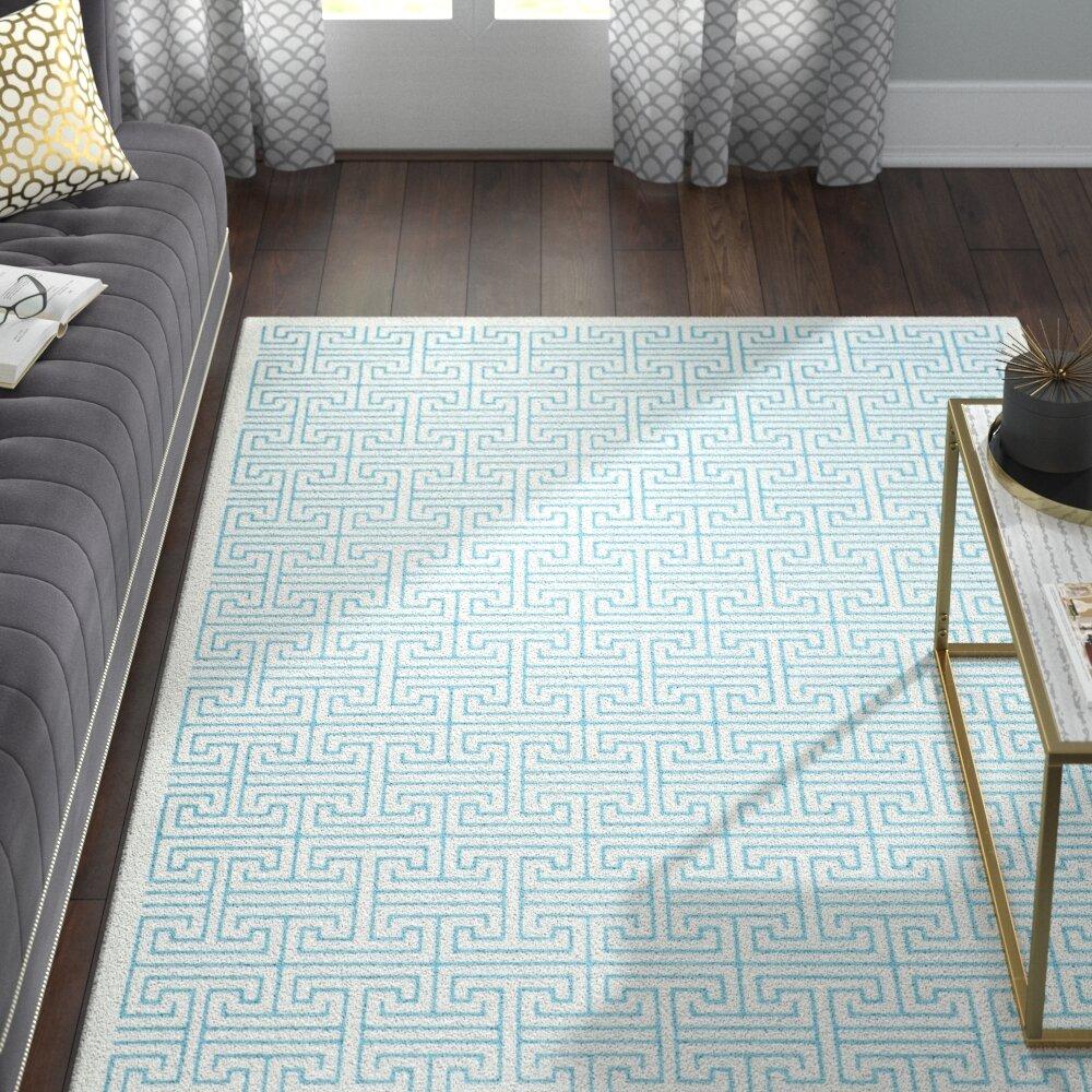 Salon Taupe Et Turquoise maspeth ivory/blue area rug