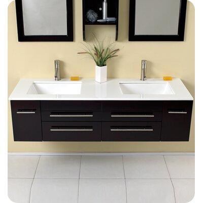 "Bathroom Vanity Sets fresca stella bellezza 59"" double bathroom vanity set with mirrors"