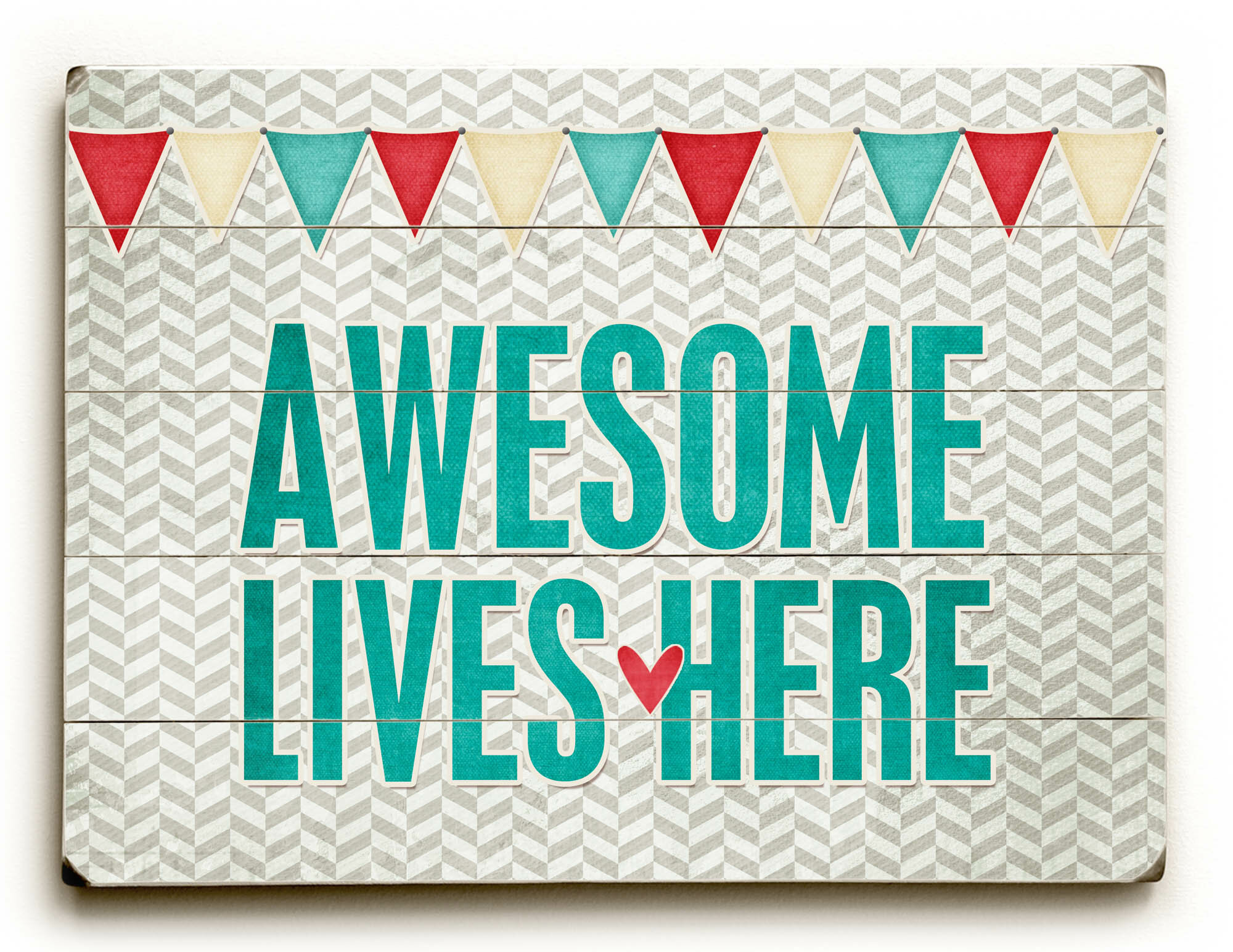 Artehouse Llc Awesome Live Here By Cheryl Overton Textual Art Plaque Wayfair