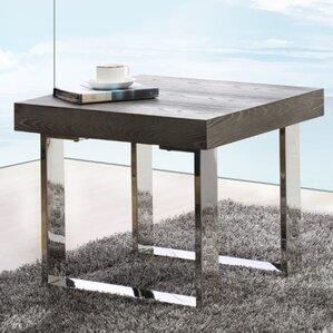 Clower Modern End Table by Orren Ellis