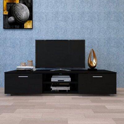 Black TV Stand For 65 Inch TV Stands, Media Console Entertainment Center Television Table Latitude Run® -  683B6057E5DF4EF59FAE87334353AEC0