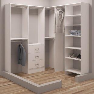 Comparison Demure Design 72.25W - 75W Closet System By TidySquares Inc.