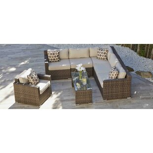Brayden Studio Riordan 7 Piece Sectional Set with Cushions