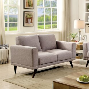Johnathan Mid-Century Modern Loveseat by Ivy Bronx