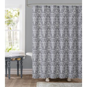 Attractive Tile Dobby Shower Curtain
