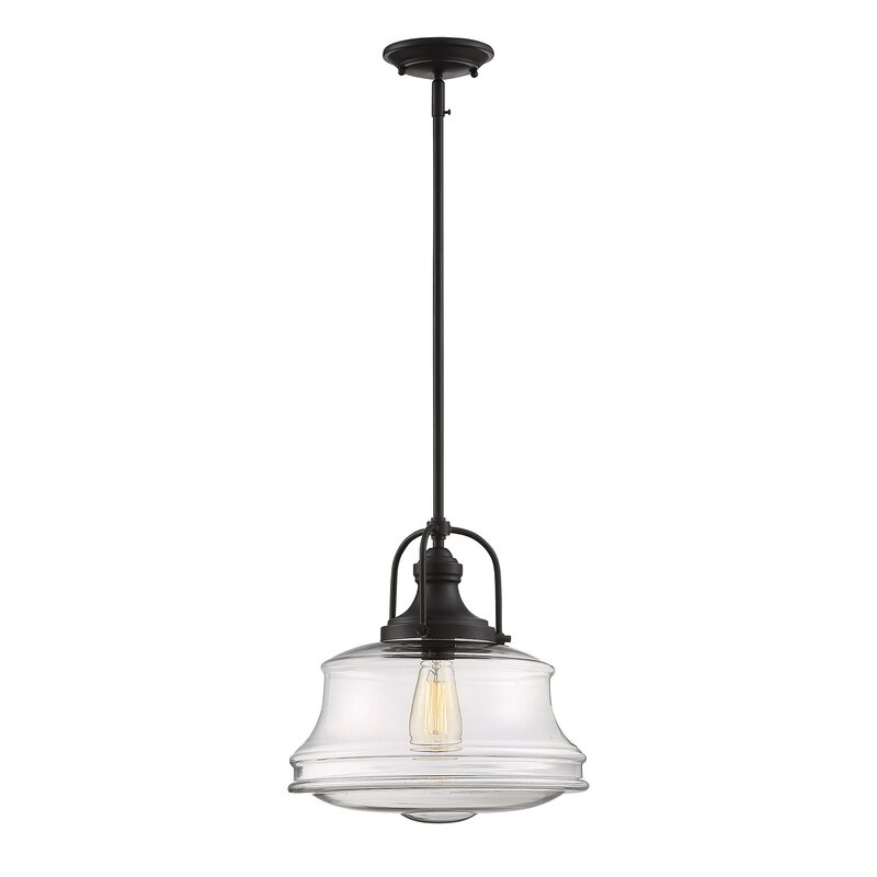 Attrayant Nadine 1 Light Schoolhouse Pendant