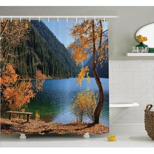 Clovis Autumn Lake And Mountain Decor Shower Curtain