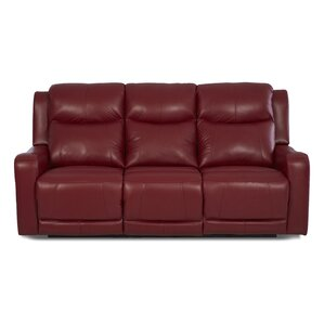 Theodore Reclining Sofa with Headrest and Lumbar Support by Red Barrel Stu..