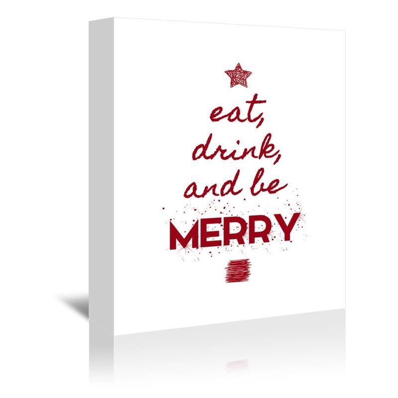 East Urban Home Kate Shephard Eat Drink And Be Merry Kids Wall Décor Wayfair