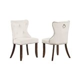 Navarrete Tufted Velvet Upholstered Parsons Chair (Set of 4) by Rosdorf Park