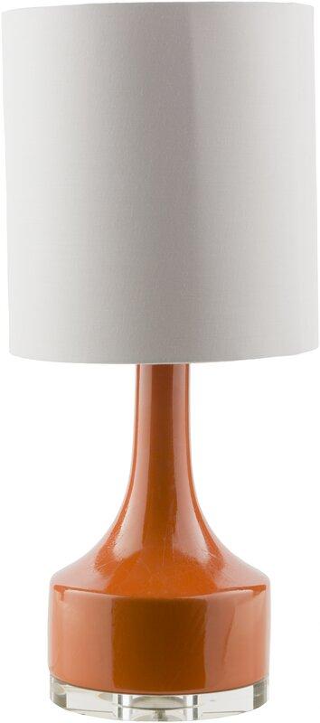 "Orange Lamp - Timsbury 24.5"" Table Lamp #midcentury #modern #lamp #gourd"