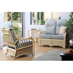 Review Alaina 3 Piece Conservatory Sofa Set