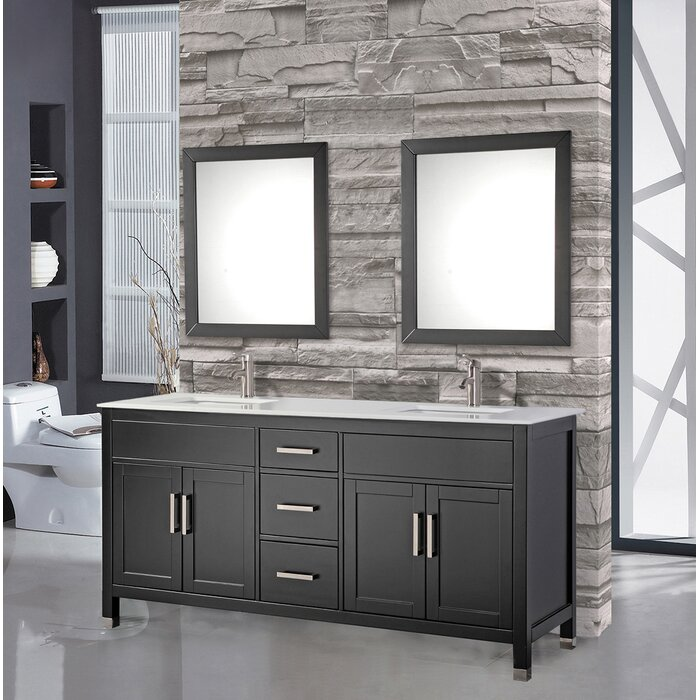 Terrific Denault 84 Double Sink Bathroom Vanity Set Beutiful Home Inspiration Truamahrainfo