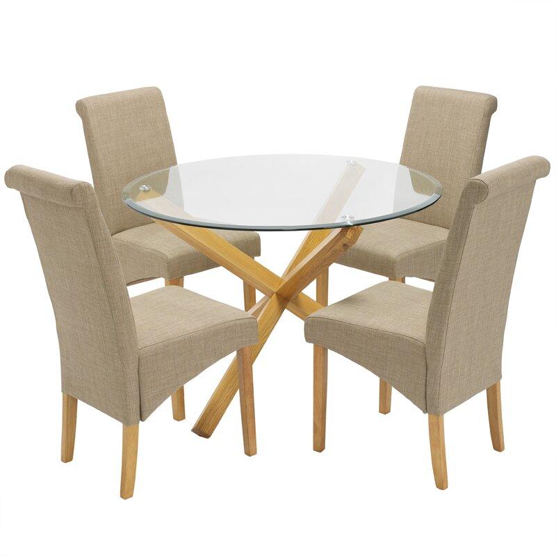 Brayden Studio Essgruppe Hawkinsville mit 4 Stühlen