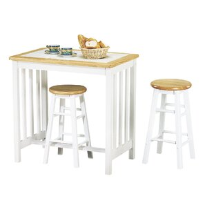 Leeman 3 Piece Counter Height Dining Set by August Grove