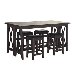 5 Piece Counter Height Drop Leaf Dining Set by Red Barrel Studio