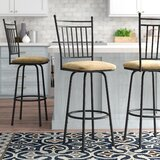 Busti Adjustable Height Swivel Bar Stool (Set of 3) by Red Barrel Studio®