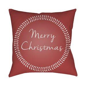 Merry Christmas Outdoor Throw Pillow