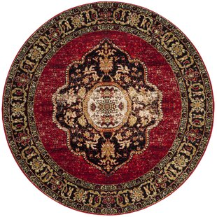 Fitzpatrick Red Area Rug by Bloomsbury Market
